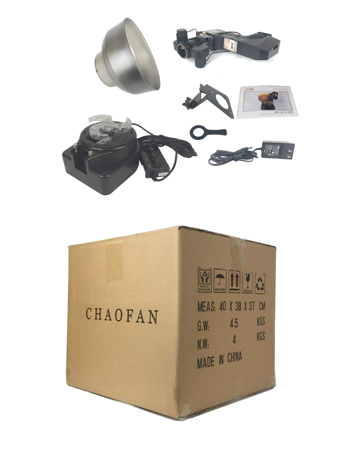 CHAOFAN 36 Spins Ping Pong Ball Machine with Automatic Table Tennis Machine for Training