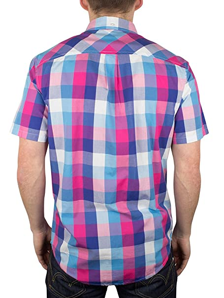 Original Penguin Hombre 3 Colour Check Gingham Shirt, Multicolor ...