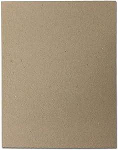 """30pt 8 1/2"""" x 11"""" Brown Kraft Cardboard Chipboard (100 Pieces)"""