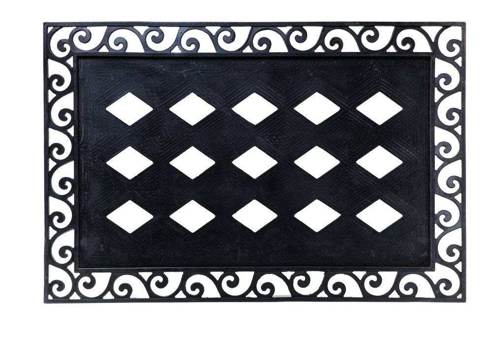 Evergreen Flag 2DMF005 Cutout Scroll Embossed Floor Mat Tray, Multi-Colored Evergreen Enterprises