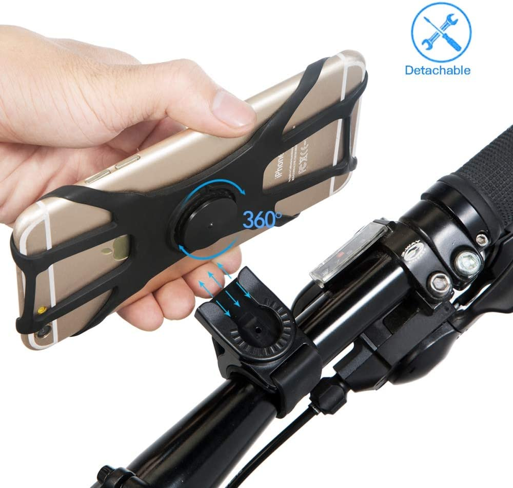 Universal Handlebar Cradle Cell Phone Holder Silicone Phone Stand for Bicycle Google Pixel etc Samsung Galaxy Universal Motorcycle Phone Mount for iPhone Bike Phone Mount