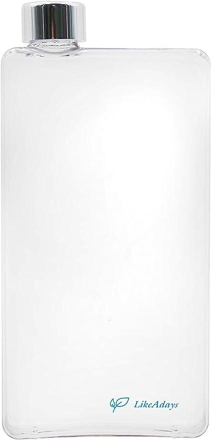 500ml 22F~212F -30C~100C Leakproof 16.9oz LikeAdays Eco-Friendly Flat Water Bottle BPA-Free Bio-Plastic Ecozen