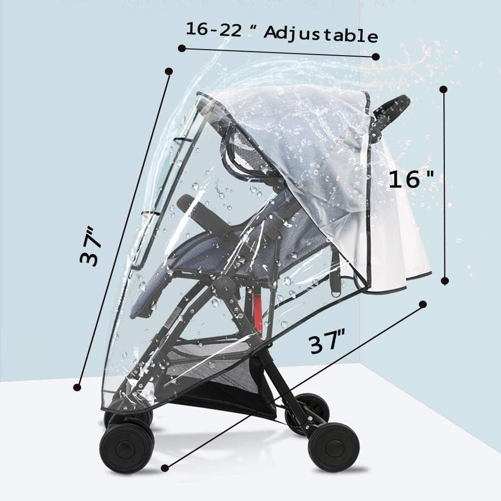 Transparent le vent et la poussi/ère Housse de pluie pour poussette la neige Protection contre la pluie