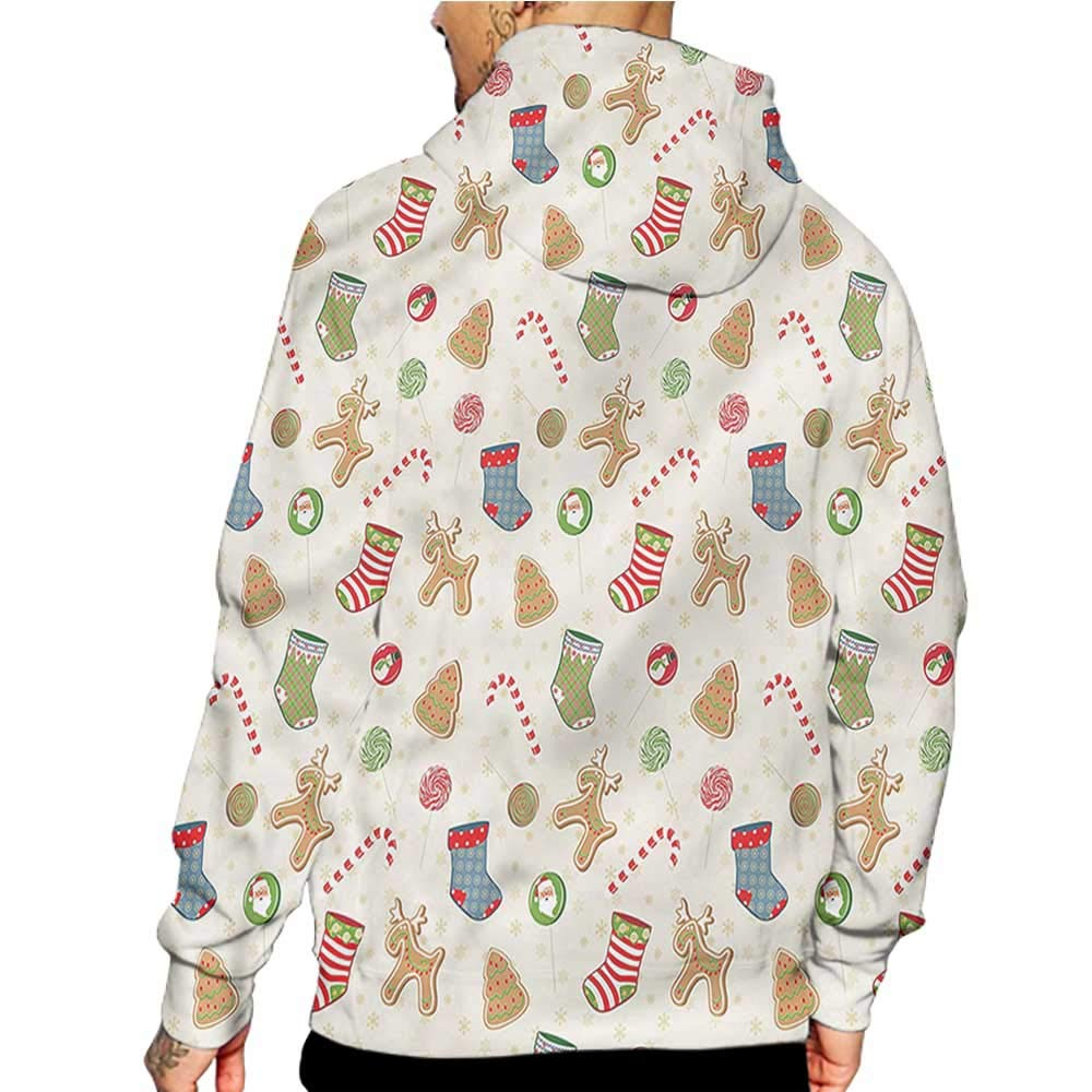 flybeek Hoodies Sweatshirt/Autumn Winter Christmas,Santa Frame,Sweatshirt Blanket Throw