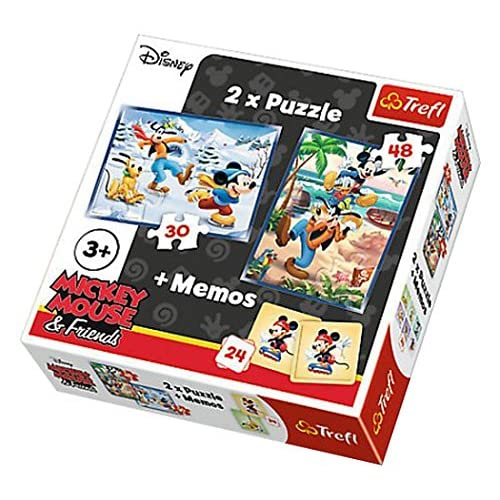 Trefl 2 puzzles + Mémos Mickey Mouse & Friends