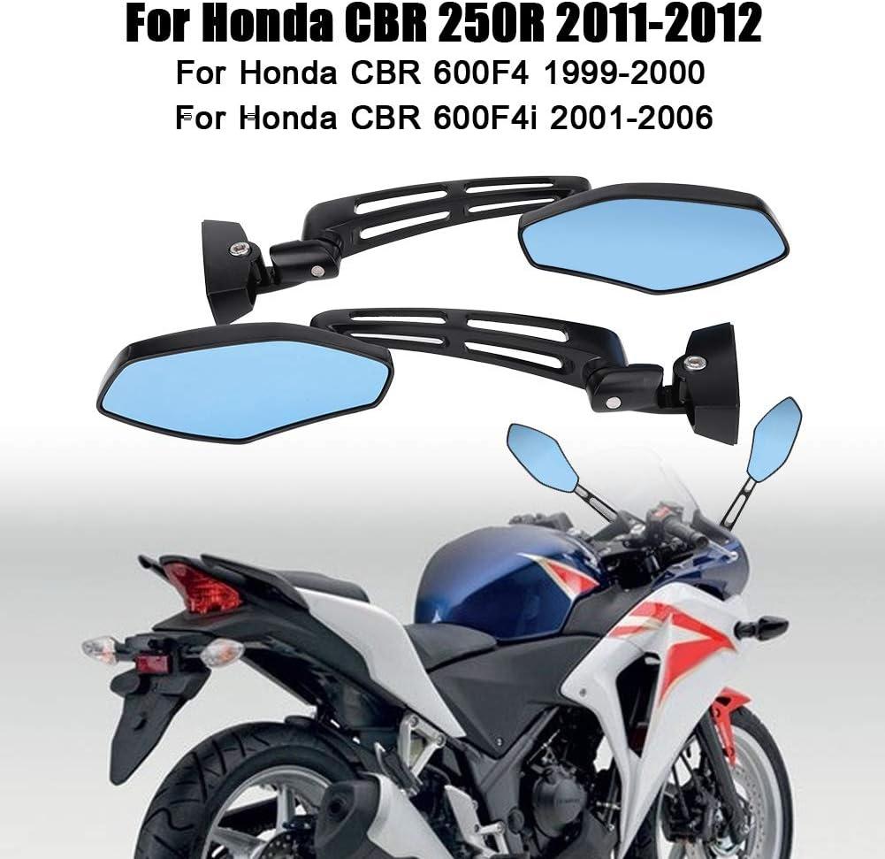 1 paire de r/étroviseurs lat/éraux de moto pour CBR 250R 2011-2012//ZX6R 2000-2012//GSXR 600 1997-2012//Hayabusa GSX1300R 1999-2012