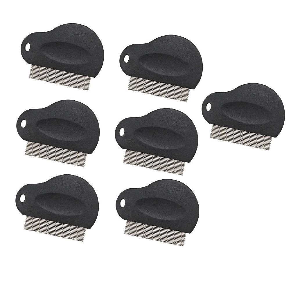 Flea Combs For Dogs Plastic Grip 3'' Black Dog Grooming Tool Available In Bulk