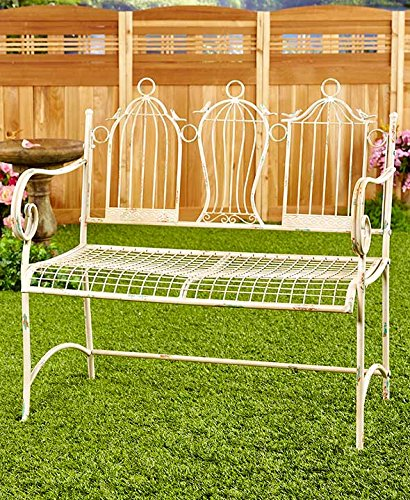 The Lakeside Collection Metal Birdcage Bench