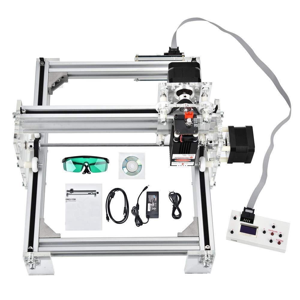 bois cnc routeur Machine de gravure laser 65 * 50cm marquage dimage de logo dimprimante de DIY Imprimante de bureau de 2 axes pour le plastique en bois en cuir 2500MW