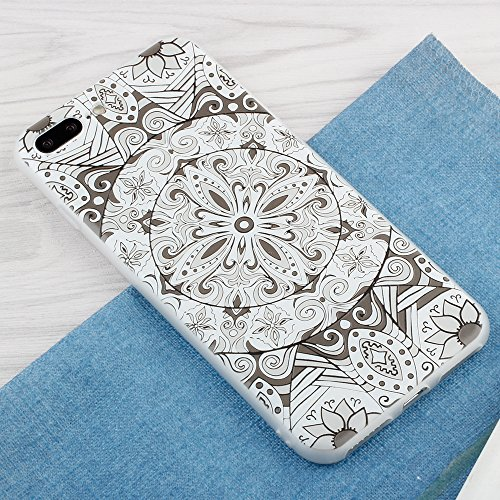 "iPhone 7 Plus Hülle , Leiai Mode Lotus TPU Weich Tasche Schutzhülle Silikon Handyhülle Stoßdämpfende Schale Fall Case Shell für Apple iPhone 7 Plus 5.5"""