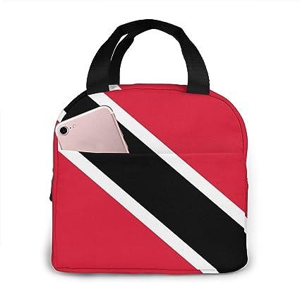 Bolsas de Almuerzo aisladas con Bandera de Trinidad y Tobago ...