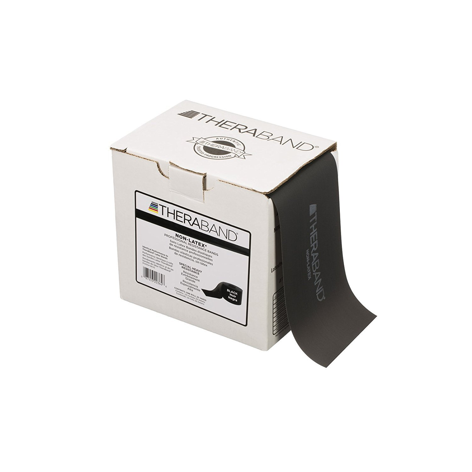 HYGENIC/THERA-BAND PROFESSIONAL RESISTANCE BANDS Resistance Band, Black/ Special Heavy, 50 Yd Dispenser Box, Latex Free (LF) (4 ea/cs) (HY11730, 021529)