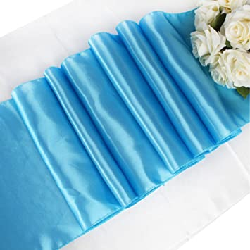 OurWarm Satin Table Runner 12u0026quot;x 108u0026quot; (Inch) Wedding Party Table  Decoration