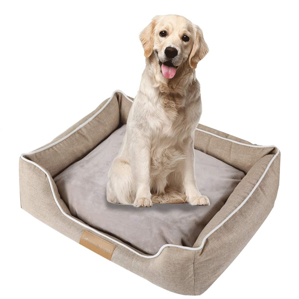 Beige 65CM Beige 65CM Pet Bed for Cats Small Dogs,Soft Comfy Washable Cat Dog Bed with Removable Cushion (color   Beige, Size   65CM)