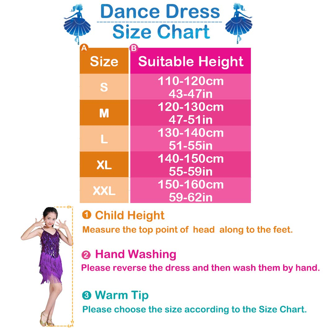 Sequin Tassel Skirt Latin Dance Costumes for Kids Magogo Girls Dancing Dresses Salsa Ballet Tango Rumba Ballroom Dancewear