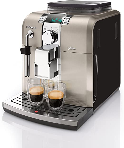 Saeco HD8836/11 - Cafetera Saeco Syntia espresso automática 1400W, con espumador de leche clásico, función de memoria, molinillos 100% cerámicos: Amazon.es: Hogar