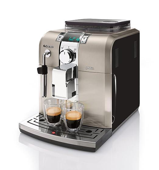 Saeco HD8836/11 - Cafetera Saeco Syntia espresso automática 1400W, con espumador de leche clásico, función de memoria, molinillos 100% cerámicos