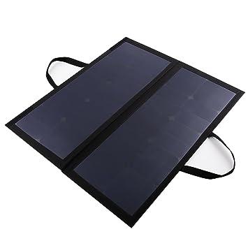 AUKEY Cargador Solar 60W, 12V 5A MAX con Clip Extraíble PB-P10 (Negro)