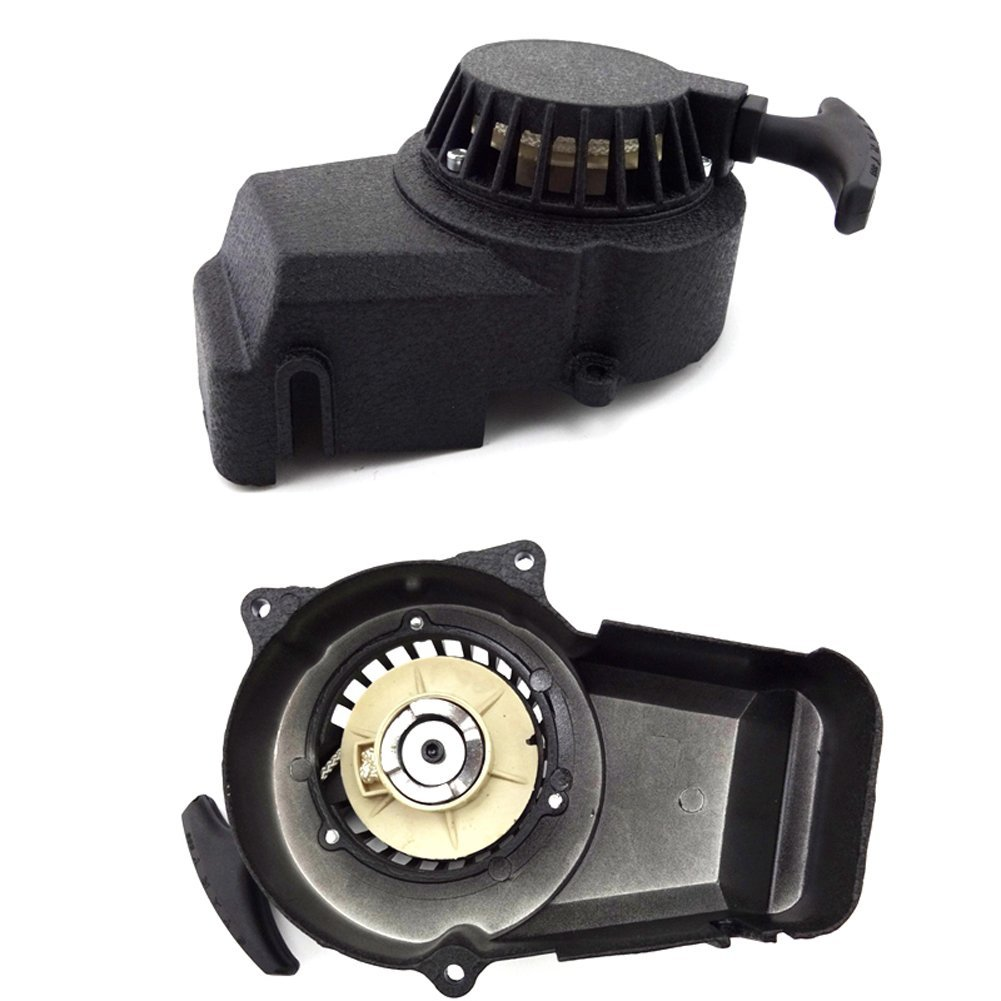 TC-Motor Black Alloy Pull Starter Start + Flywheel + Screws For 2 Stroke 47cc 49cc Engine Mini Scooter Kids Dirt Bike Quad ATV by TC-Motor (Image #3)