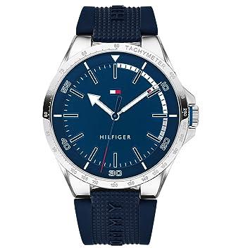 Tommy Hilfiger Reloj Analógico para Hombre de Cuarzo con Correa en Silicona 1791542: Amazon.es: Relojes