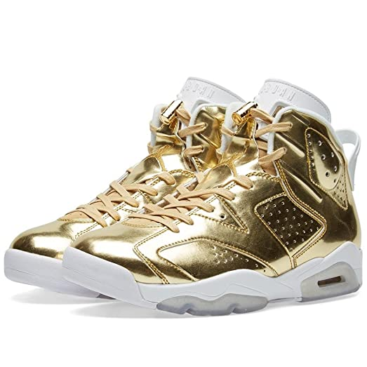 Nike Mens Air Jordan 6 Retro Pinnacle Metallic Gold/White Leather (19)