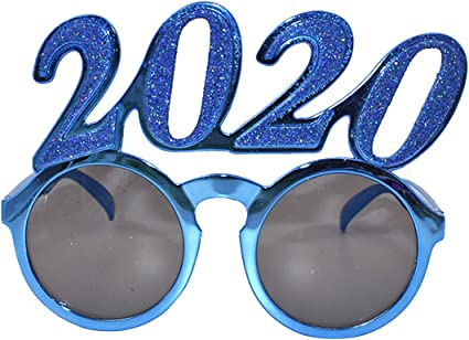 2020 Eyeglass Accessories Photo Prop Funny Glitter Eyewear Party Supply New Year