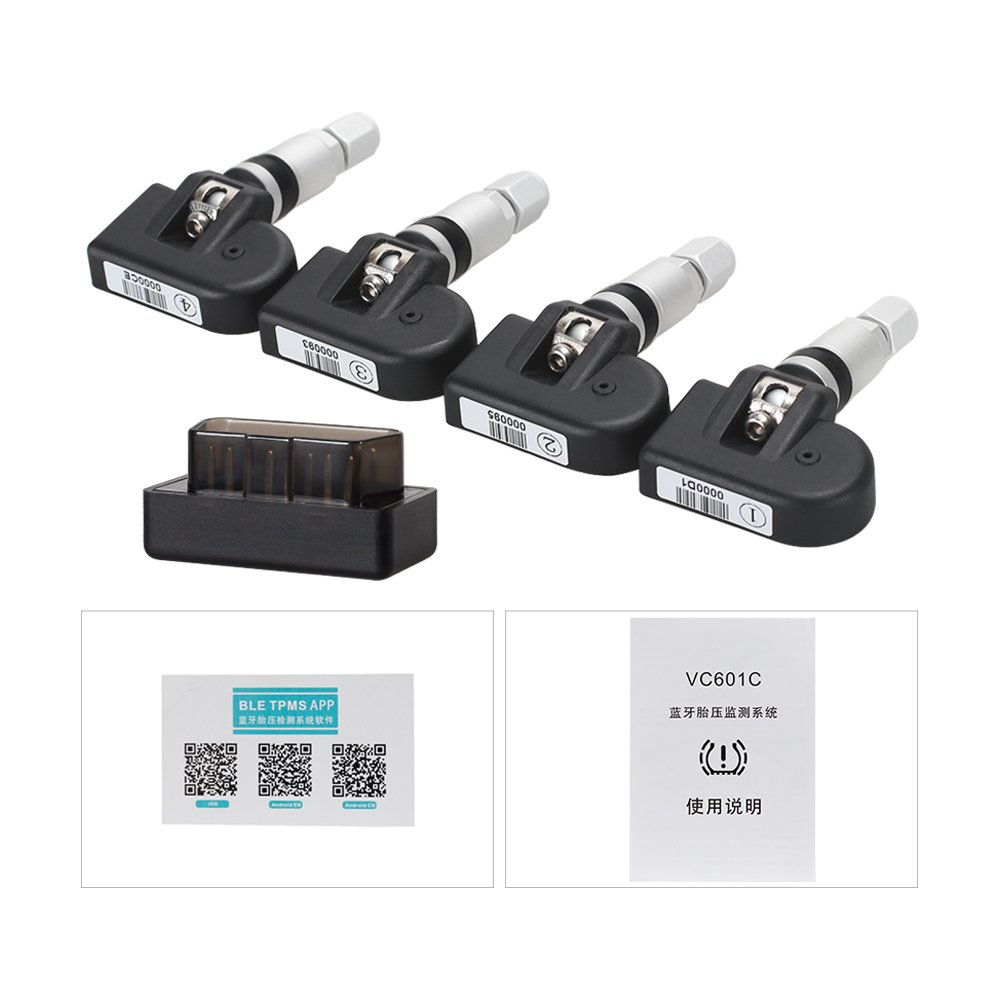 KINGBOLEN TPMS Mobile Phone APP Bluetooth Display Tire Pressure Alarm Monitor Systems 4 External Sensors OBD Interface …