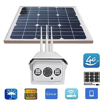 1080P 30W Cámara de vigilancia de la energía Solar 3 Antenas WiFi Cámara de IP al