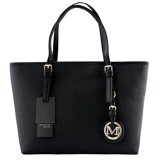 Amazon.com  Women Handbags Big Pu Leather Letter Female Bag Designer Bolsos  Mujer Sac A Main Totes black  Clothing 710c355903967
