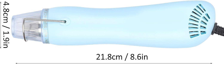 Atyhao Mini Pistolet Thermique Pistolet /à air Chaud /à Double Vitesse avec Support pour Artisanat en r/ésine /époxy Emballage r/étractable Chauffage Film r/étractable Peinture s/échage Artisanat