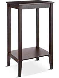 HOMFA Bamboo Tall End Table Sofa Couch Side Coffee Table Simple Design  Multipurpose Modern Home Furniture