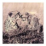 Growth Chart Art Nursery Safari Animal Wall Art