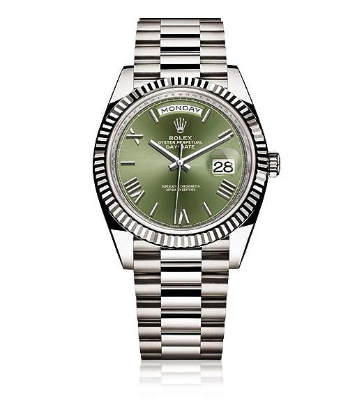 Rolex Day-Date 40 Presidente oro blanco reloj 228239 60th aniversario verde Dial: Rolex: Amazon.es: Relojes