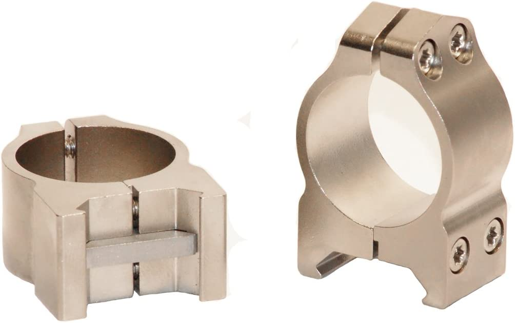 Warne Scope Mounts Medium Matte Permanent Attach Rings Free Shipping 30mm
