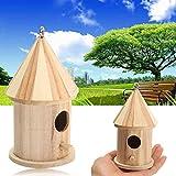 Hot Sale! Wooden Bird House Birdhouse Hanging Nest Nesting Box For Home Garden Decor