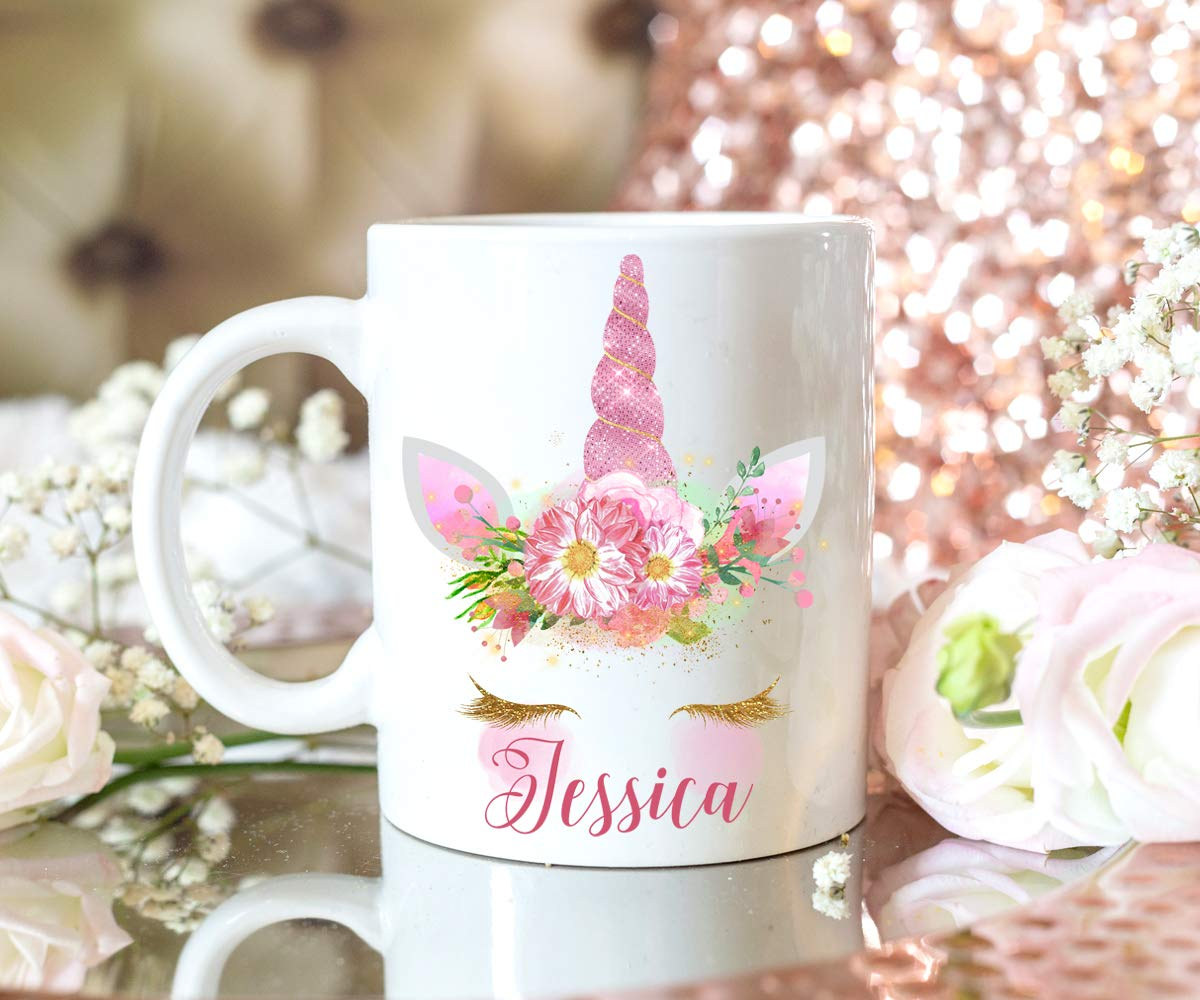Unicorn Mug Personalized Pink Gift For Women