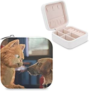 Garfield And Odie Small Jewelry Box Mini Jewelry Box Women's Travel Jewelry Box Portable Small Jewelry Storage Box Ring Earring Necklace Girl Gift