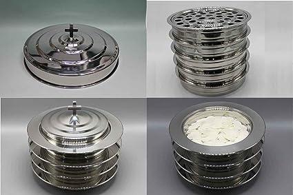 Amazoncom Silvertone 8 Stainless Steel Communion Trays With 2