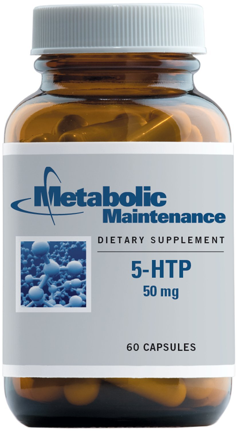 Metabolic Maintenance - 5-HTP - 50 mg with P-5-P (B6) for Mood Support, 60 Capsules