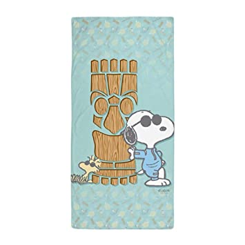 DEFFWBb Snoopy Tiki - Large Beach Towel, Soft 31x51 Towel with Unique Design