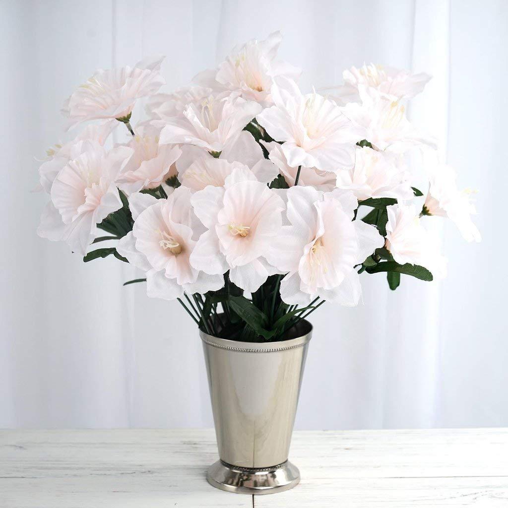 Tableclothsfactory 72 Artificial Daffodil Flowers For Diy Wedding