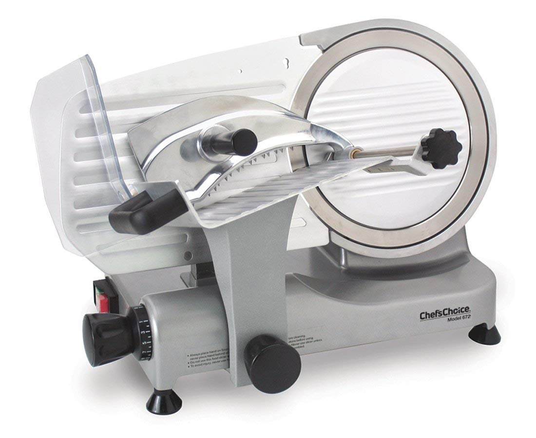 Chef'sChoice 672 Professional Electric Food Slicer, Silver