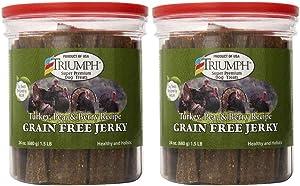 Triumph Dog Turkey, Pea, & Berry Grain Free Jerky, 24-Ounce [2-Pack]