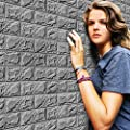 TPTPT PE Foam 3D Wall Stickers,Wallpaper DIY Wall Sticker Wall Decor Embossed Brick Stone Decal Home Decor