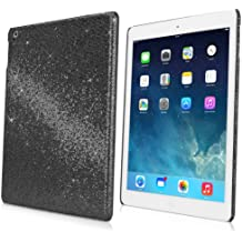 iPad Air Case, BoxWave [Glamour & Glitz Case] Slim, Snap-On Glitter Cover for Apple iPad Air - Black Pearl