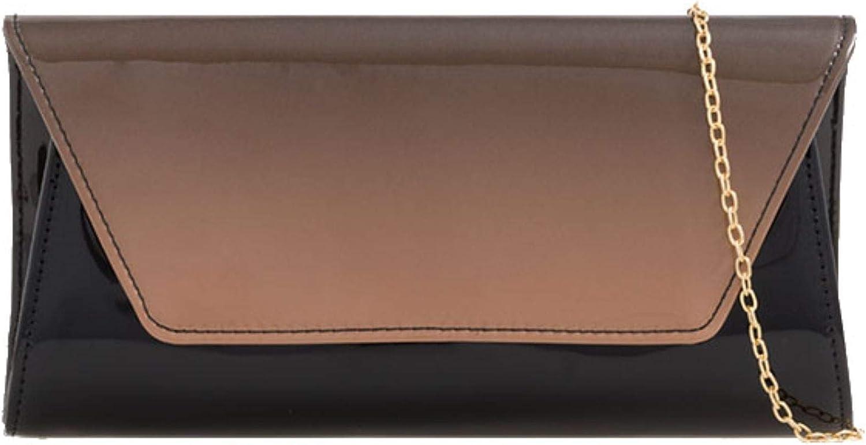 Girly HandBags Glossy 2 Tone Clutch Bag