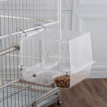 Comedero para pájaros Loro Alimentador automático Colgante de ...