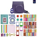 grape fuji instax - FujiFilm Instax Mini 8 Grape Accessory Bundle. Kit includes: Case, Frames, 64 page Photo Album, Selfie Lens, Colored Filters and more