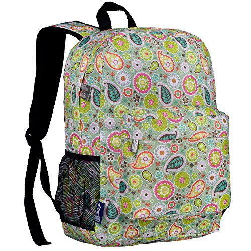 Wildkin 16 Inch Backpack, Durable Backpack with Padded Straps, Front Pocket, Moisture-Resistant Lining, and Two Mesh Side Pockets, Perfect for School or Travel – Paisley