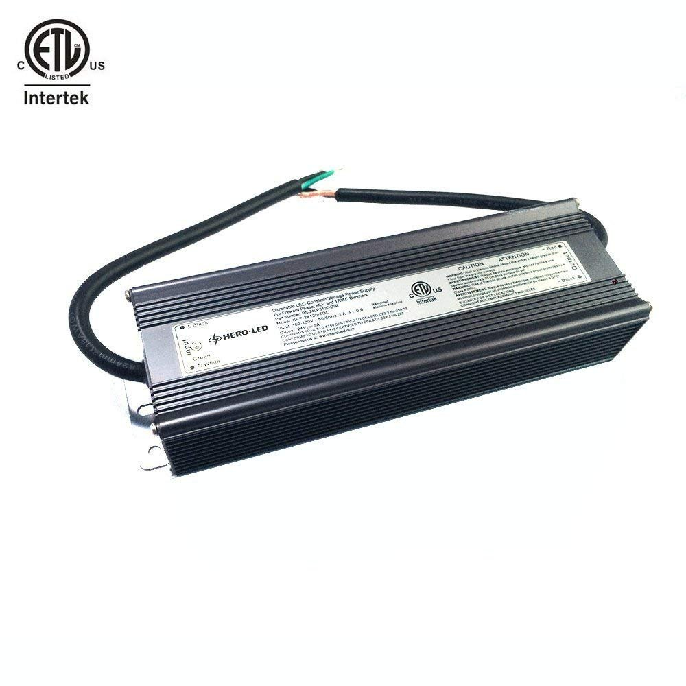 HERO-LED PS-24LPS120-DIM ETL-listed Dimmable LED Constant Voltage Power Supply - Dimmble LED Transformer 24V DC, 5A, 120W